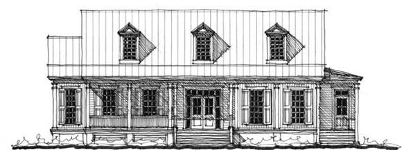 Historic, Southern House Plan 73743 with 4 Beds, 5 Baths Elevation