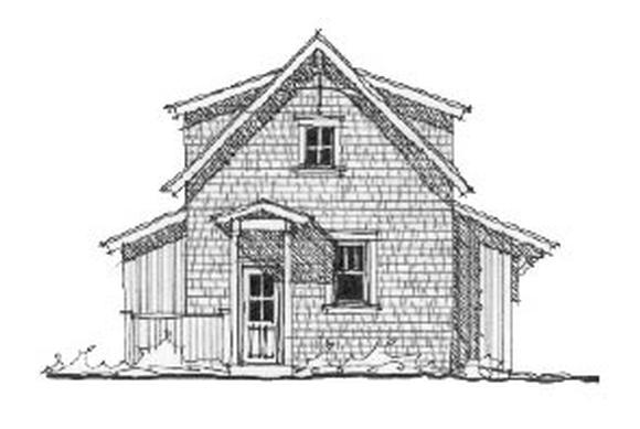 Historic 2 Car Garage Apartment Plan 73766 with 1 Beds, 1 Baths Elevation