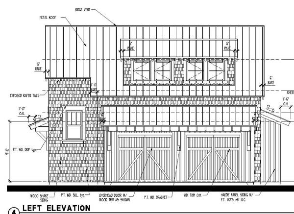 Historic 2 Car Garage Apartment Plan 73766 with 1 Beds, 1 Baths Picture 3