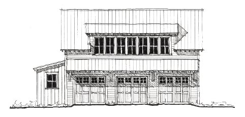 Historic 3 Car Garage Apartment Plan 73781 with 2 Beds, 1 Baths Elevation