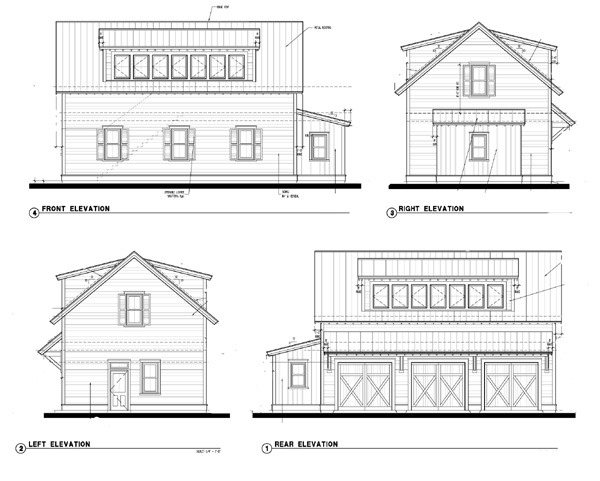 Historic 3 Car Garage Apartment Plan 73781 with 2 Beds, 1 Baths Picture 1