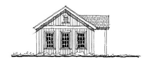 Historic House Plan 73816 with 1 Beds, 1 Baths Elevation