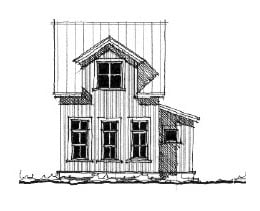 Historic House Plan 73819 with 2 Beds, 2 Baths Elevation