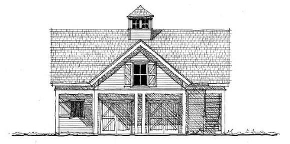Historic 2 Car Garage Apartment Plan 73823 with 1 Beds, 1 Baths Elevation