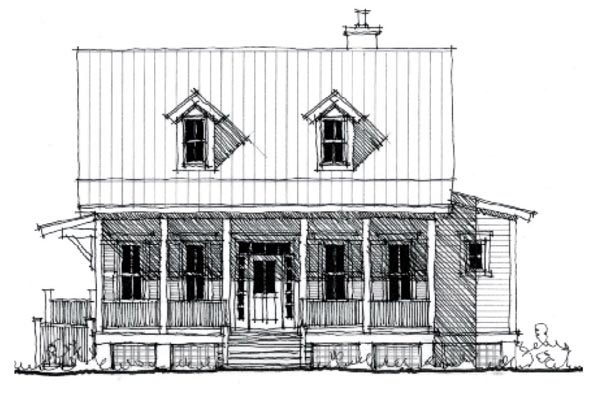 Country, Historic House Plan 73844 with 4 Beds, 3 Baths Elevation