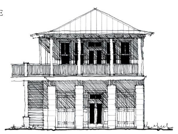 Country, Historic House Plan 73881 with 2 Beds, 1 Baths, 2 Car Garage Elevation