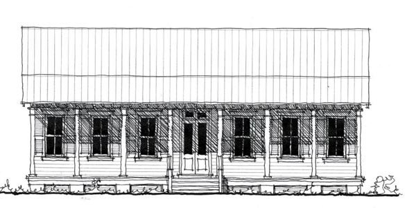 Country, Historic House Plan 73886 with 3 Beds, 2 Baths Elevation