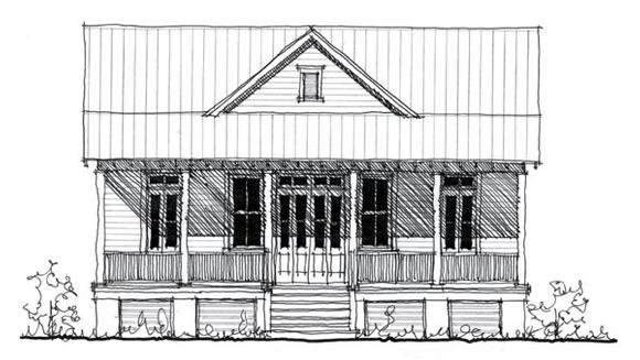 Country, Historic House Plan 73887 with 2 Beds, 2 Baths Elevation