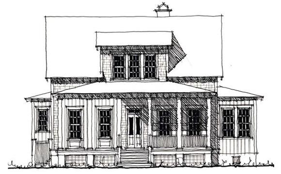 Country, Historic House Plan 73900 with 4 Beds, 3 Baths Elevation