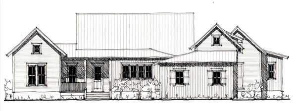 Country, Farmhouse, Historic House Plan 73904 with 3 Beds, 5 Baths, 3 Car Garage Elevation