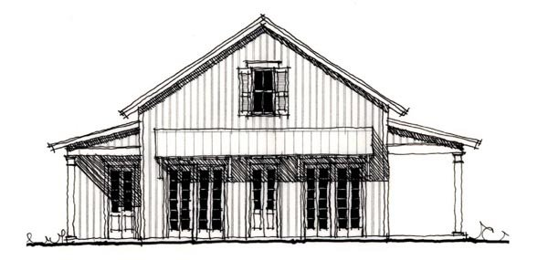 Country, Historic House Plan 73919 with 2 Beds, 2 Baths Elevation