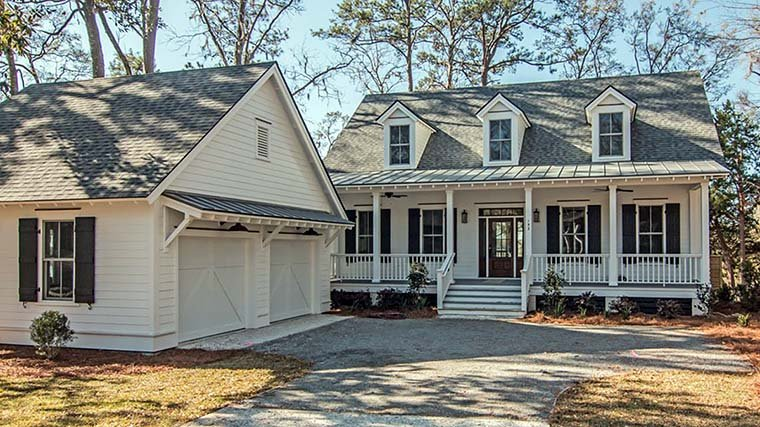 Cape Cod, Country, Southern House Plan 73933 with 3 Beds, 4 Baths Elevation