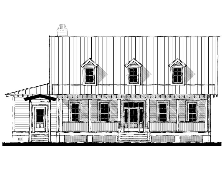 Cape Cod, Country, Southern House Plan 73933 with 3 Beds, 4 Baths Picture 1