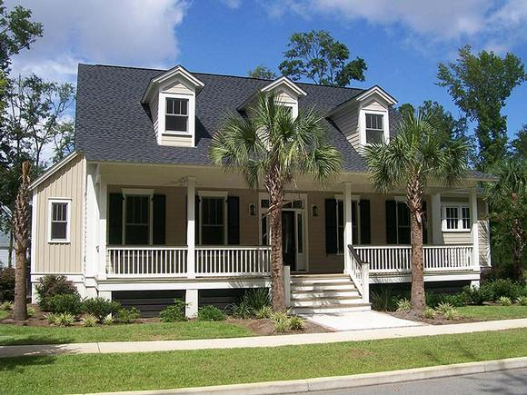 Coastal, Country, Southern House Plan 73949 with 3 Beds, 4 Baths Elevation