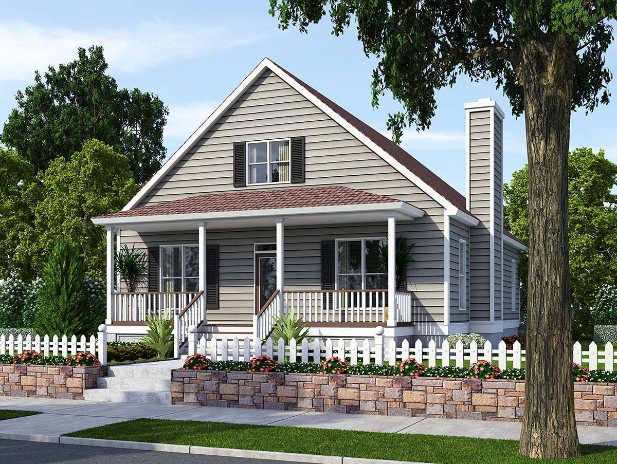 Bungalow, Cottage, Country, Traditional House Plan 74001 with 3 Beds, 2 Baths, 2 Car Garage Elevation