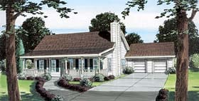 Plan Number 74008 - 1492 Square Feet