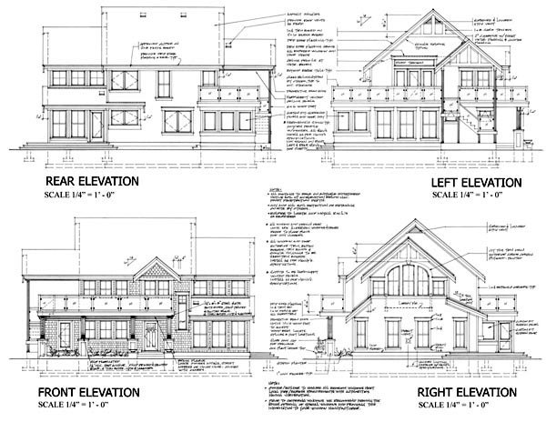 Contemporary, Craftsman, Traditional House Plan 74016 with 2 Beds, 2 Baths Rear Elevation