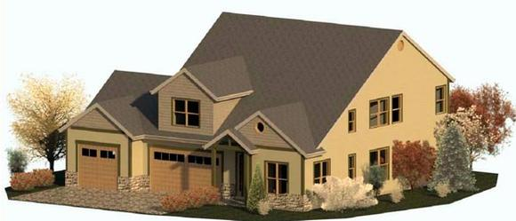 Country, Craftsman, Traditional House Plan 74340 with 3 Beds, 3 Baths, 3 Car Garage Elevation