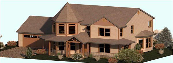 Country, Farmhouse, Victorian House Plan 74343 with 3 Beds, 3 Baths, 2 Car Garage Elevation