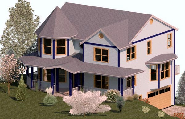 Country, Farmhouse House Plan 74345 with 3 Beds, 3 Baths, 2 Car Garage Elevation