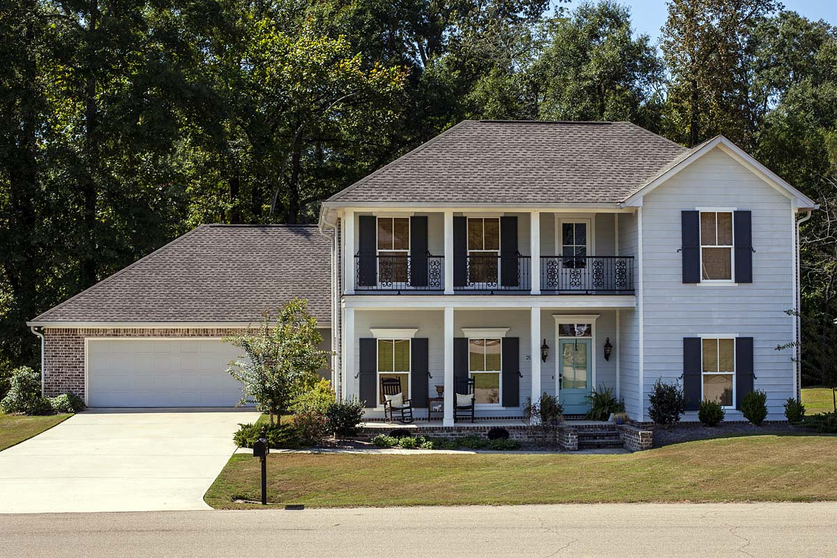 Historic, Plantation, Southern, Traditional House Plan 74653 with 4 Beds, 3 Baths, 2 Car Garage Elevation