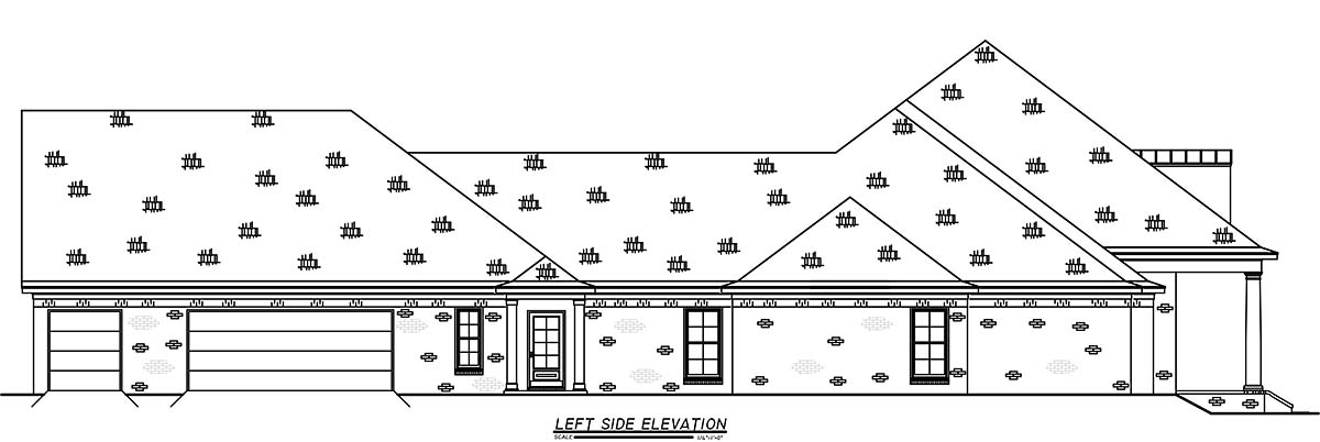 French Country, Traditional House Plan 74663 with 3 Beds, 4 Baths, 3 Car Garage Picture 2