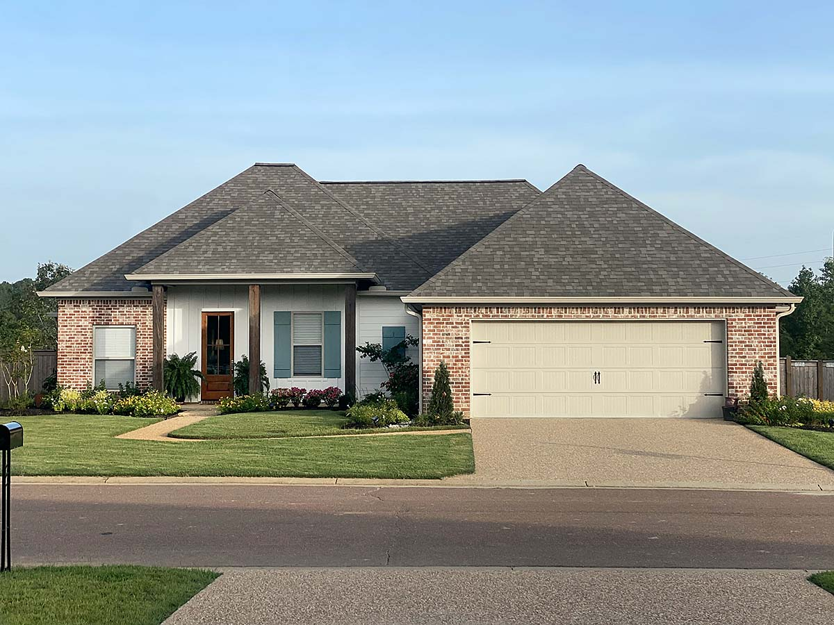French Country, Traditional House Plan 74665 with 3 Beds, 2 Baths, 2 Car Garage Elevation