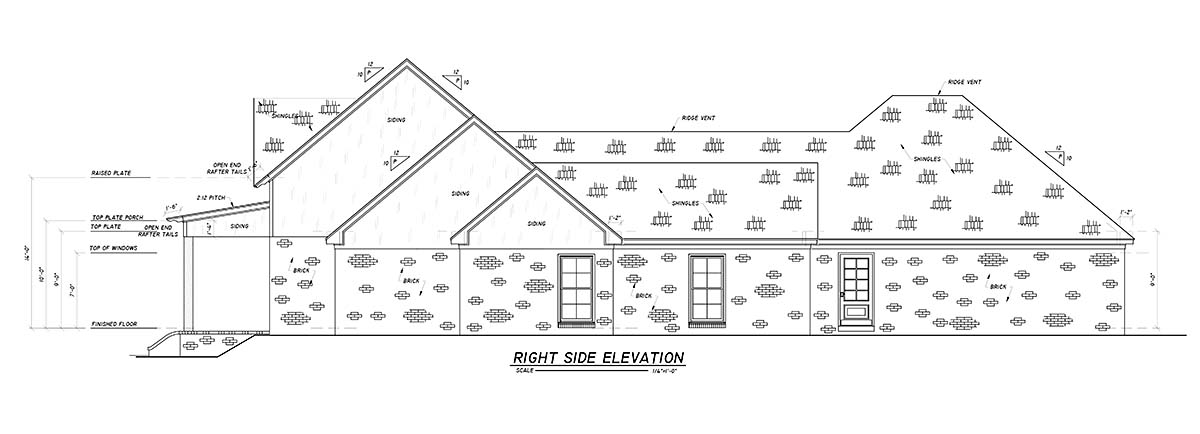 Country, Farmhouse, Traditional House Plan 74669 with 4 Beds, 3 Baths, 2 Car Garage Picture 1