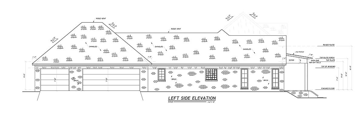 Country, Farmhouse, Traditional House Plan 74669 with 4 Beds, 3 Baths, 2 Car Garage Picture 2