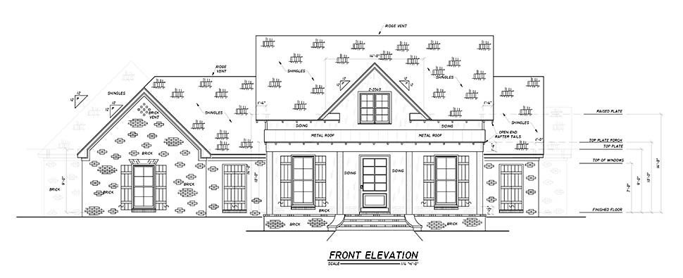 Country, Farmhouse, Traditional House Plan 74669 with 4 Beds, 3 Baths, 2 Car Garage Picture 3