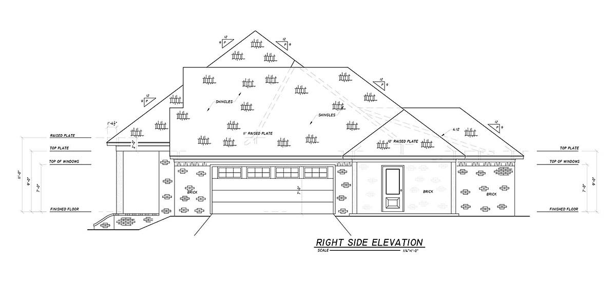 Country, Farmhouse, Traditional House Plan 74670 with 4 Beds, 3 Baths, 2 Car Garage Picture 1