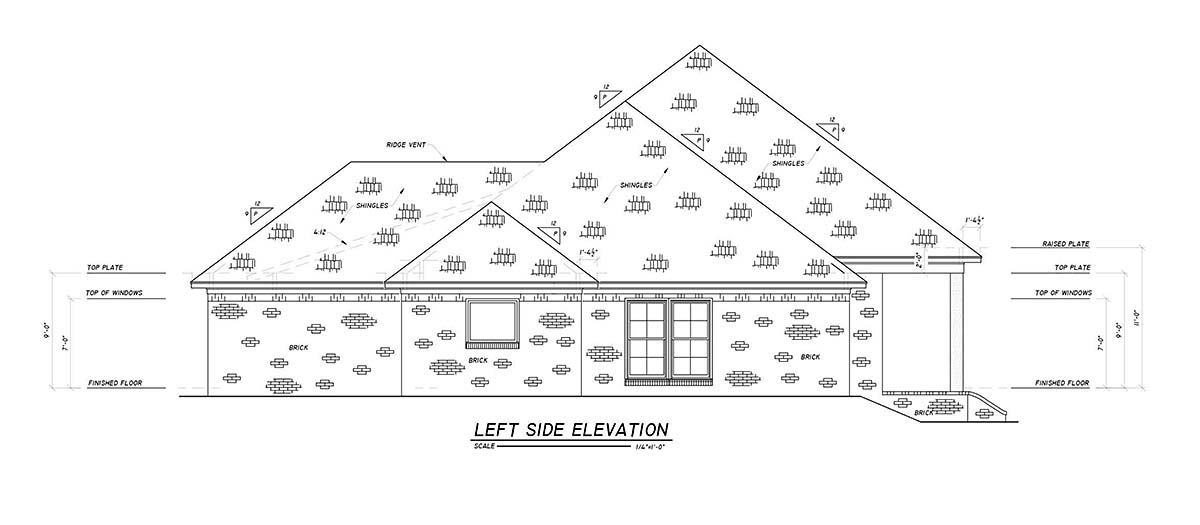 Country, Farmhouse, Traditional House Plan 74670 with 4 Beds, 3 Baths, 2 Car Garage Picture 2