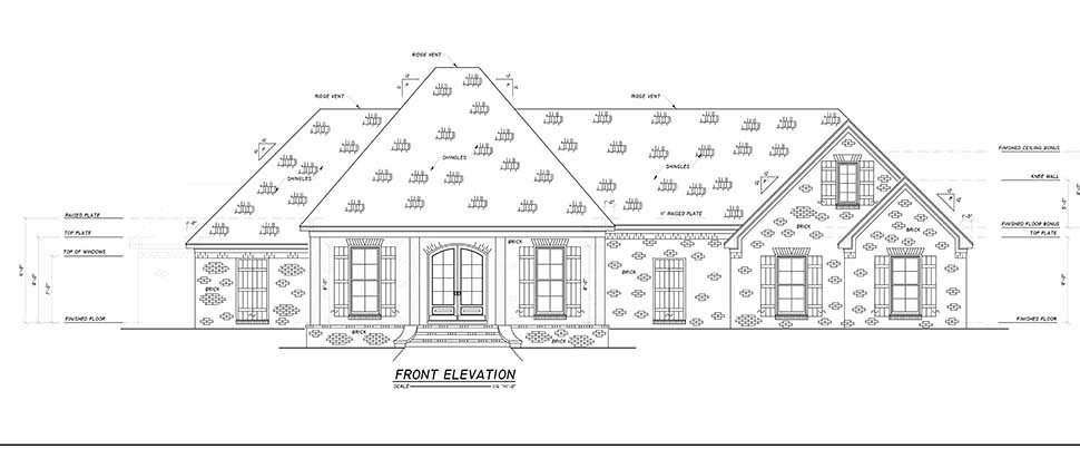 Country, Farmhouse, Traditional House Plan 74670 with 4 Beds, 3 Baths, 2 Car Garage Picture 3