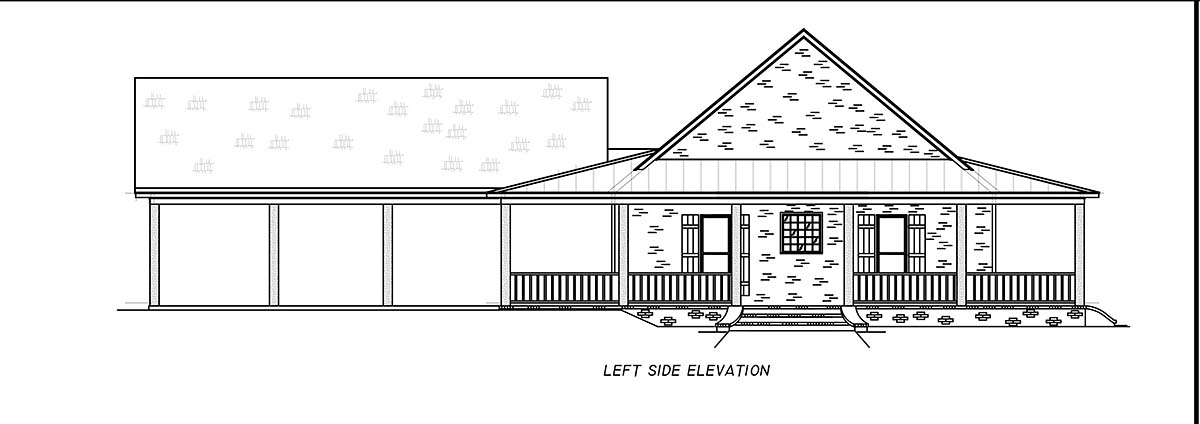 Country, Farmhouse, Traditional House Plan 74671 with 3 Beds, 2 Baths, 2 Car Garage Picture 2