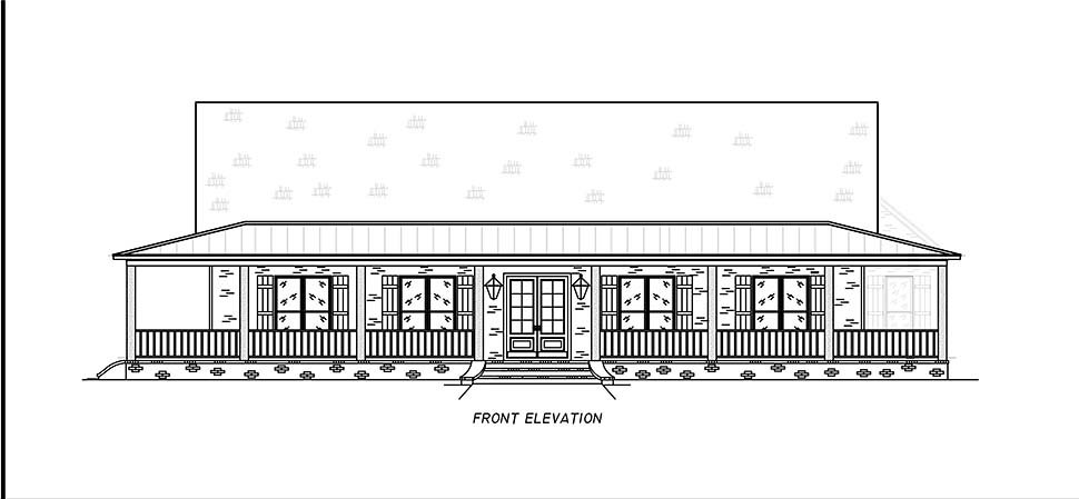 Country, Farmhouse, Traditional House Plan 74671 with 3 Beds, 2 Baths, 2 Car Garage Picture 3