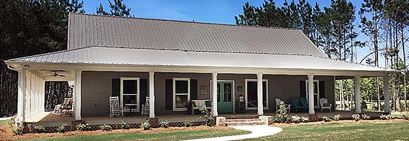 Country, Farmhouse, Traditional House Plan 74680 with 3 Beds, 2 Baths Elevation