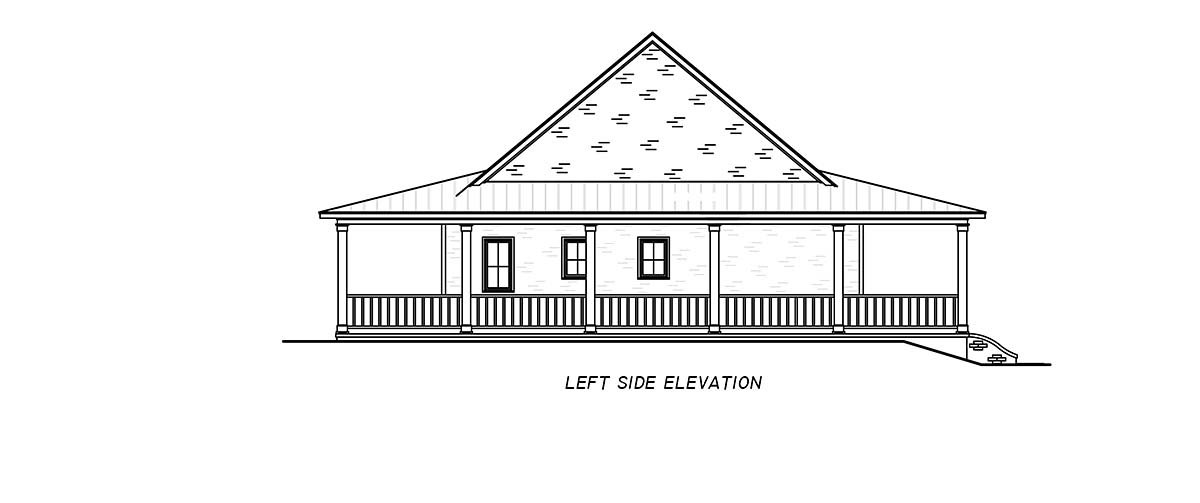 Country, Farmhouse, Traditional House Plan 74680 with 3 Beds, 2 Baths Picture 2