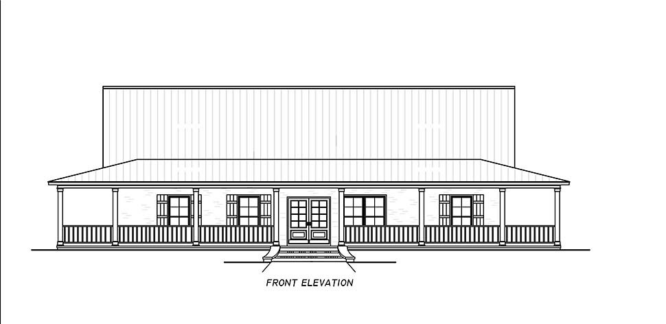 Country, Farmhouse, Traditional House Plan 74680 with 3 Beds, 2 Baths Picture 3