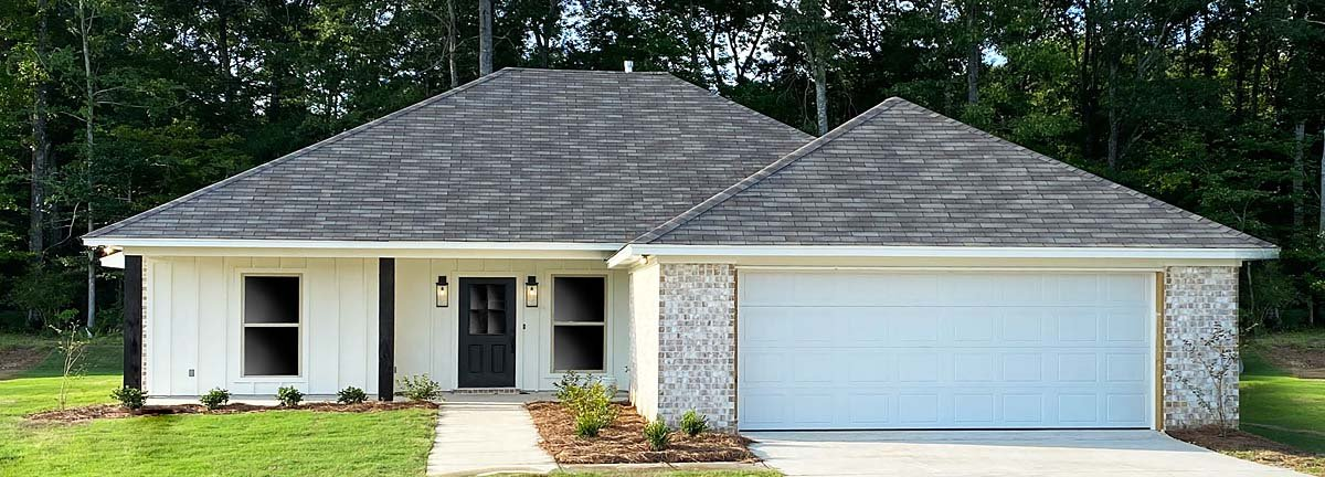 French Country, Traditional House Plan 74681 with 4 Beds, 2 Baths, 2 Car Garage Elevation
