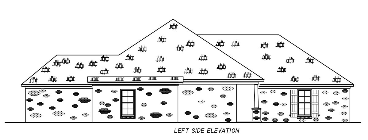 French Country, Traditional House Plan 74681 with 4 Beds, 2 Baths, 2 Car Garage Picture 2