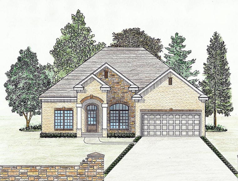 Cottage, Country, Craftsman, Ranch, Southern House Plan 74723 with 3 Beds, 2 Baths, 2 Car Garage Elevation