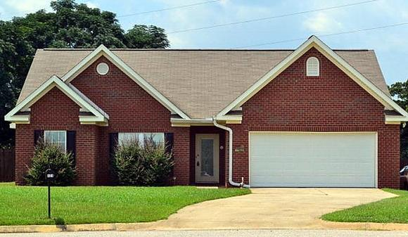 Traditional House Plan 74762 with 4 Beds, 2 Baths, 2 Car Garage Elevation