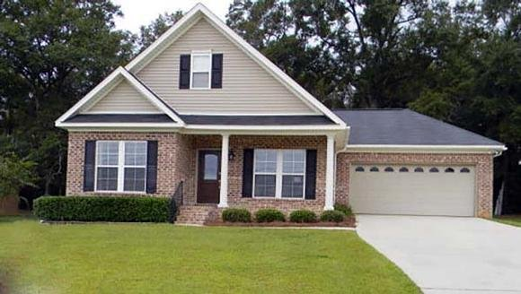 Bungalow, Cottage, Country, Ranch, Southern House Plan 74766 with 3 Beds, 2 Baths, 2 Car Garage Elevation