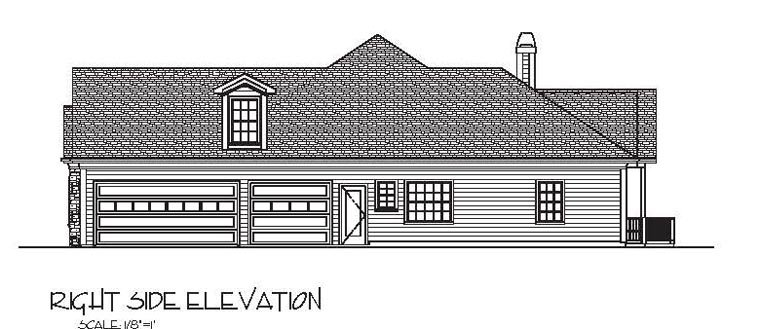 Craftsman, European, Ranch House Plan 74812 with 3 Beds, 4 Baths, 3 Car Garage Picture 2