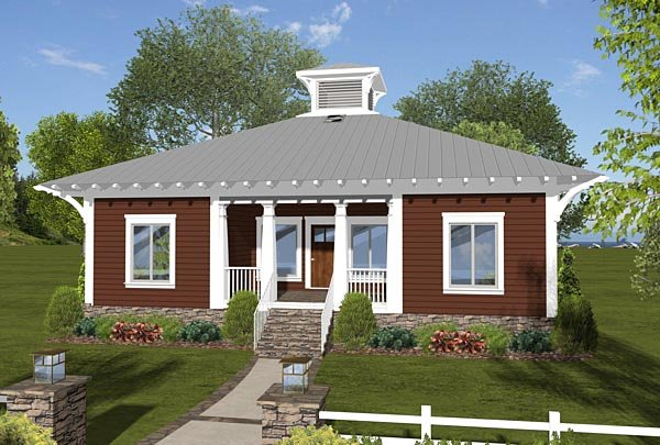 Cottage, Country, Craftsman House Plan 74844 with 3 Beds, 2 Baths Elevation