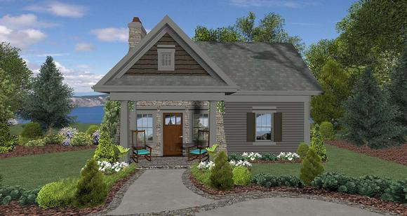 Cottage, Craftsman, Tuscan House Plan 74863 with 1 Beds, 1 Baths Elevation