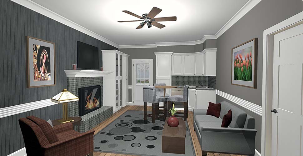 Cottage, Craftsman, Tuscan House Plan 74863 with 1 Beds, 1 Baths Picture 1