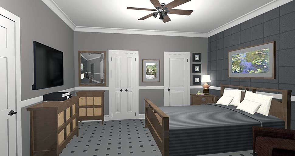 Cottage, Craftsman, Tuscan House Plan 74863 with 1 Beds, 1 Baths Picture 2