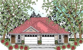 Plan Number 75049 - 1386 Square Feet