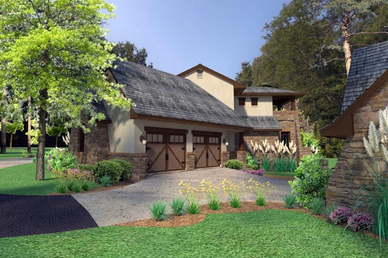 Craftsman, Tuscan House Plan 75132 with 3 Beds, 4 Baths, 2 Car Garage Picture 10